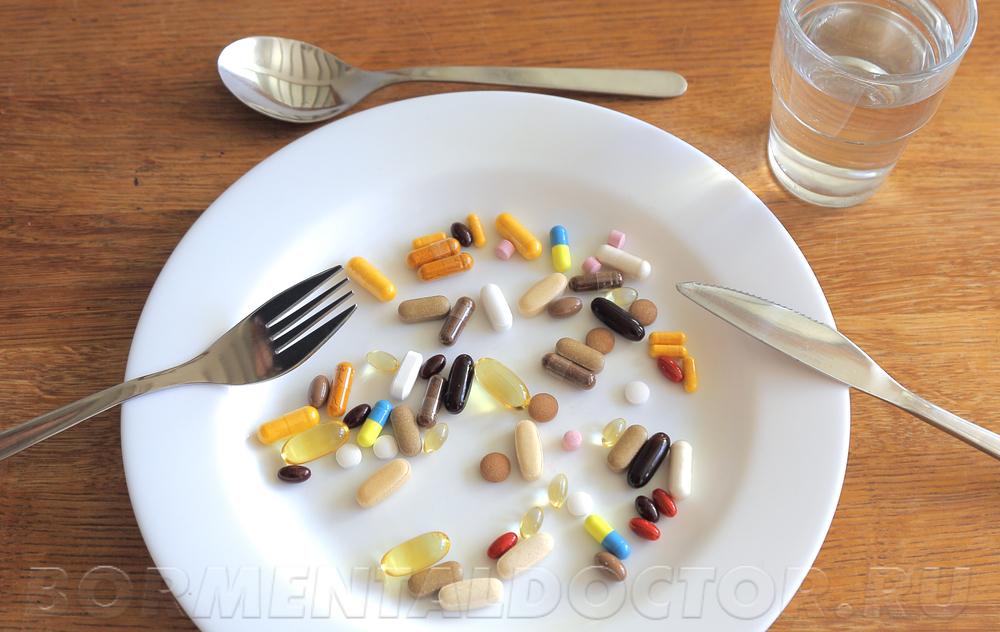 слишком много таблеток