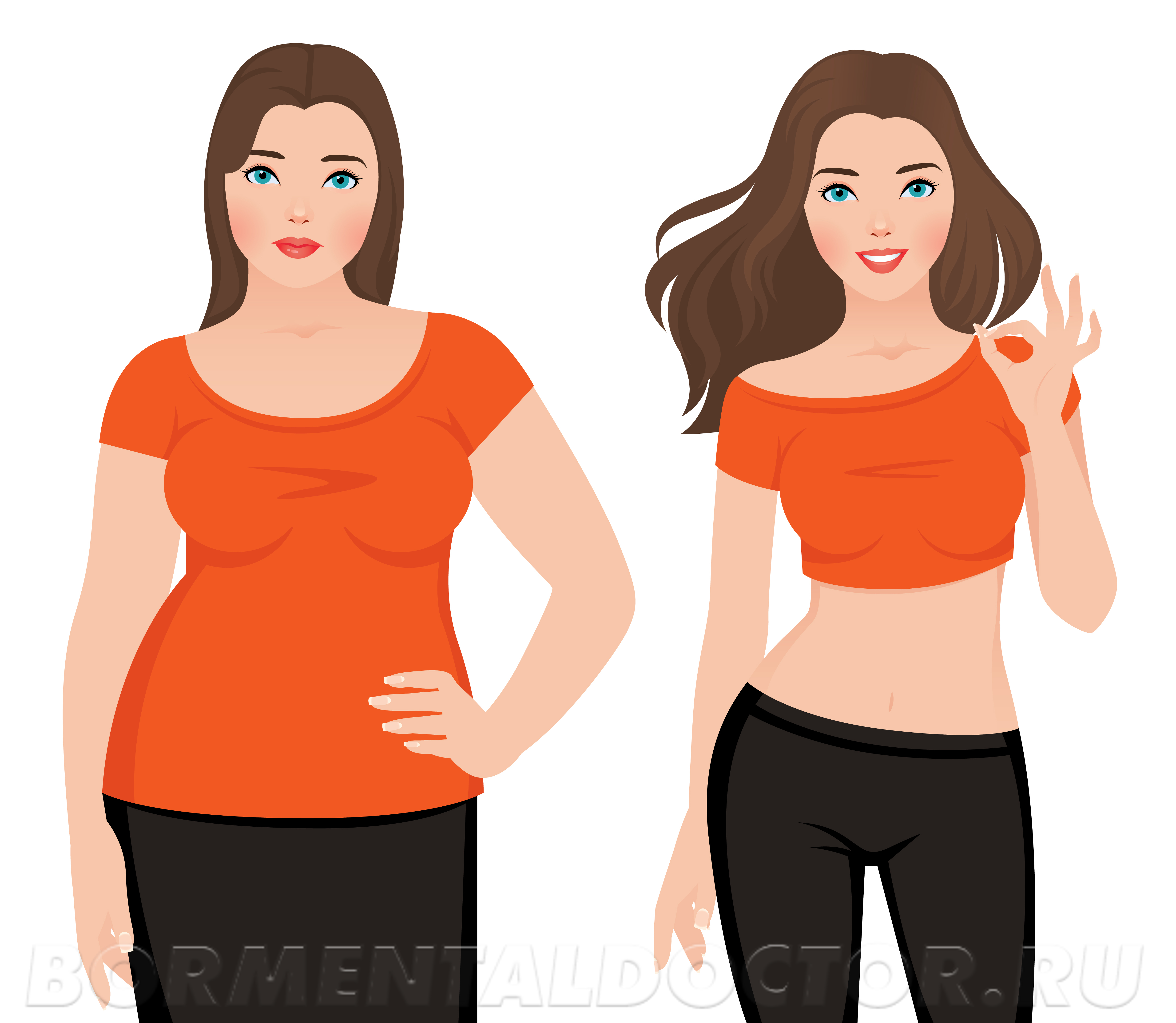 Если ваш вес находится в нормальном диапазоне, то нужно разобраться со структурой тела