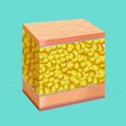 Схематичное изображение  кожи и подкожной жировой клетчатки