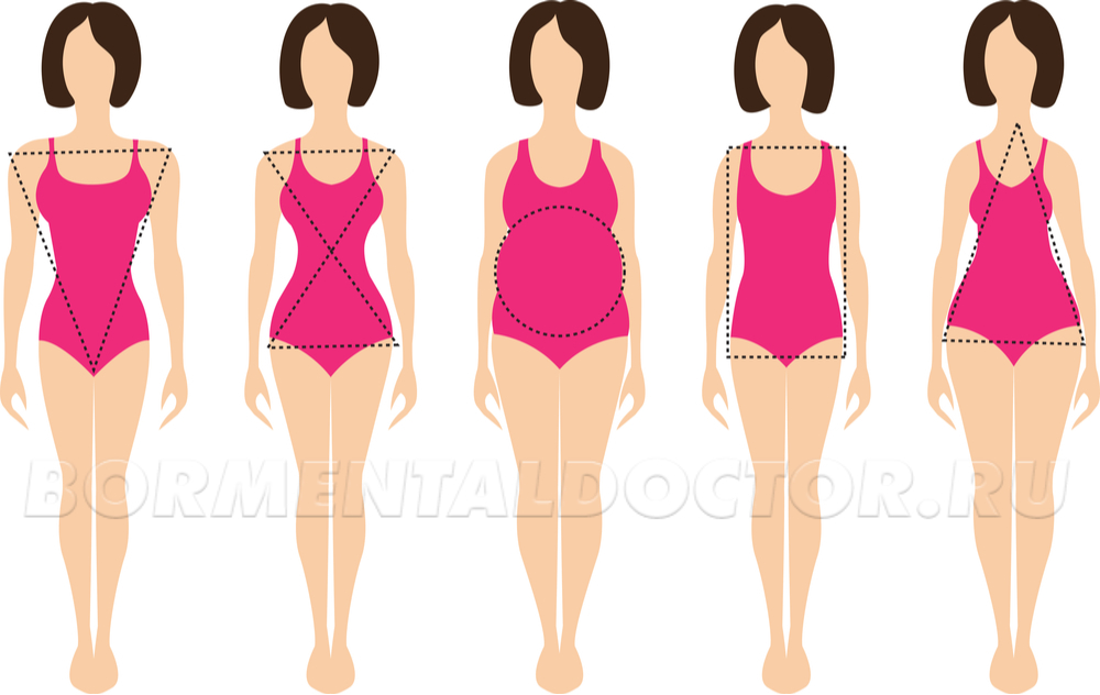 body type - Индекс массы тела для женщин